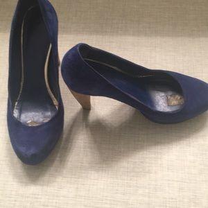 Loeffler Randall Royal Blue Velvet Heel - 7.5